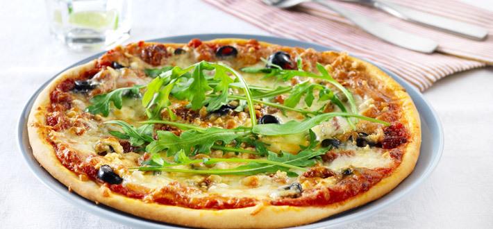 Kolmen juuston pizza