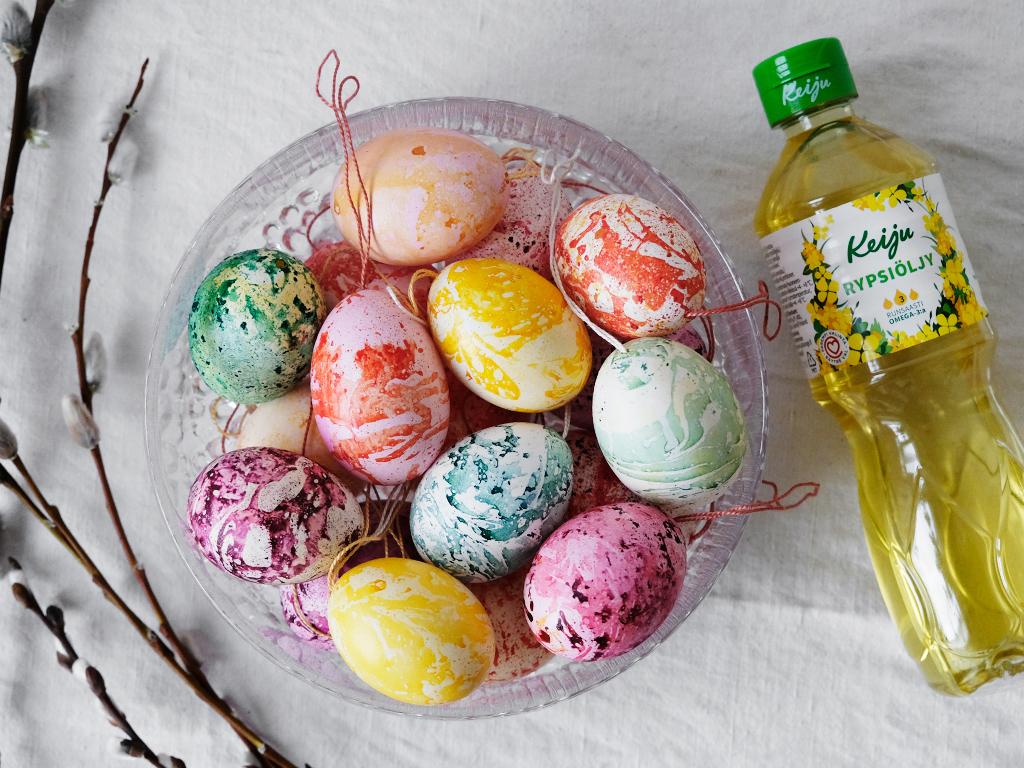 Marmorikuvioidut pääsiäismunat