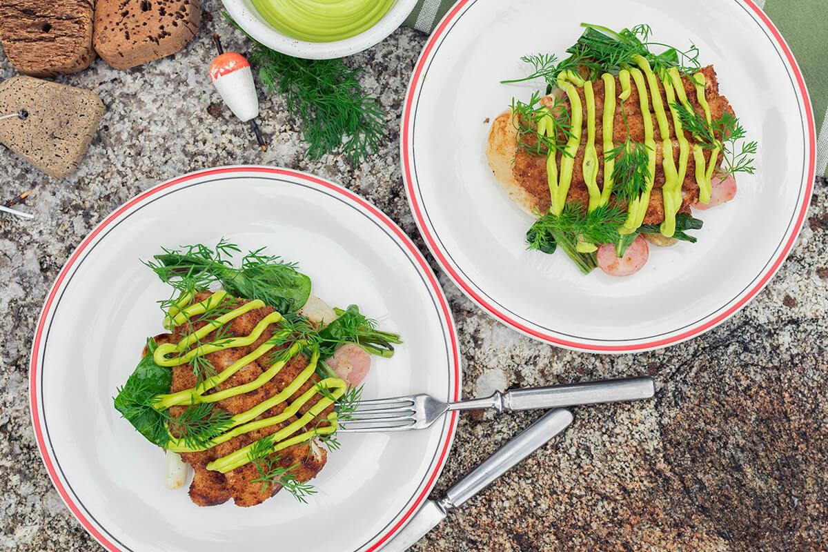 Ruisahvenet & grillattu perunasalaatti