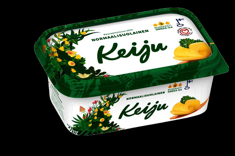 Keiju Normaalisuolainen margariini 60 levitteelle on myönnetty Sydänmerkki