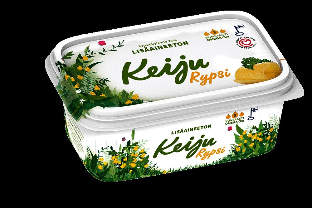 Keiju Rypsi rypsiöljy-kasvirasvalevite 75 %